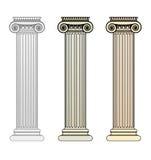 Coluna iónica Fotografia de Stock