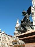 Coluna mariana de Mariensäule do Cherub Fotos de Stock Royalty Free