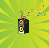 Coluna musical Imagem de Stock Royalty Free