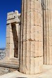 Coluna na acrópole fotos de stock royalty free