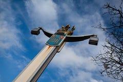 A coluna na ponte Fotografia de Stock