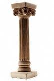 Coluna no fundo branco imagens de stock