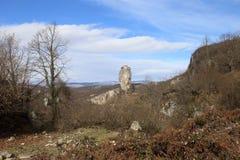 A coluna no inverno, Geórgia de Katskhi, Sakartvelo imagens de stock royalty free