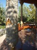 Coluna no mausoléu de Al-Hakim al-Termizi, Termiz Foto de Stock Royalty Free