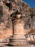 Coluna no templo da bandeja fotos de stock royalty free