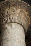 Coluna no templo de Khnum em Esna fotografia de stock