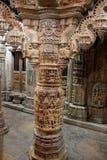 Coluna que cinzela no templo Jain Imagem de Stock Royalty Free