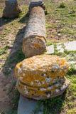 Coluna romana quebrada, Chellah, Rabat, Marrocos Fotografia de Stock