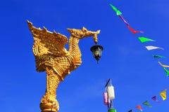 Coluna tailandesa da luz do estilo Fotos de Stock Royalty Free