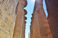 A coluna Templo de Karnak Egypt Vista Imagem de Stock