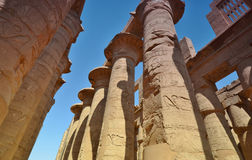 A coluna Templo de Karnak Luxor Egypt Imagem de Stock