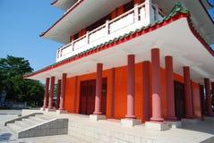 Coluna vermelha do pagoda fotos de stock