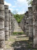 Colunas 1000 do guerreiro em Chichen-Itza México Imagem de Stock Royalty Free