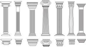 Colunas ajustadas de 8 ilustração stock
