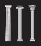 Colunas antigas ilustração do vetor