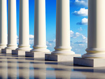 Colunas antigas nas nuvens ilustração royalty free