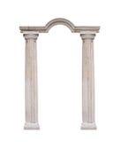 Colunas bonitas no estilo clássico isoladas no fundo branco imagem de stock royalty free
