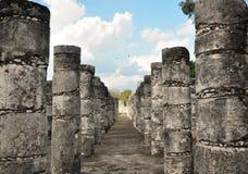 Colunas Chichen Itza Imagem de Stock Royalty Free