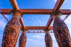 Colunas cinzeladas Fotografia de Stock Royalty Free
