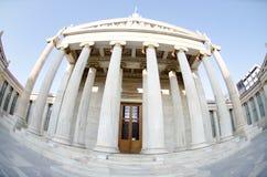 Colunas da academia de Atenas fotografia de stock royalty free