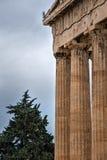 Colunas da acrópole Imagem de Stock