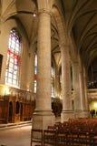 Colunas da catedral de Notre-Dame, Luxemburgo Foto de Stock Royalty Free
