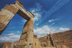 Colunas da cidade antiga de Persepolis, Irã Imagens de Stock Royalty Free