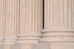 Colunas da lei e da justiça Fotografia de Stock Royalty Free