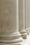 Colunas da lei e da justiça Imagens de Stock Royalty Free