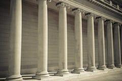 Colunas da lei e do pedido Fotografia de Stock Royalty Free