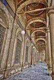 Colunas da mesquita de Muhammad Ali imagem de stock royalty free