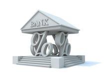 Colunas da operação bancária Fotos de Stock Royalty Free