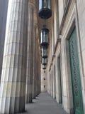 Colunas da universidade de Buenos Aires foto de stock