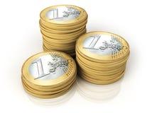 Colunas das moedas Fotografia de Stock Royalty Free
