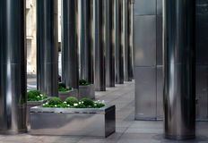 Colunas de aço inoxidável Fotografia de Stock