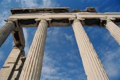 Colunas de Erechtheion fotografia de stock