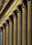 Colunas de justiça Imagens de Stock Royalty Free