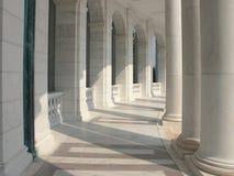 Colunas de mármore Foto de Stock