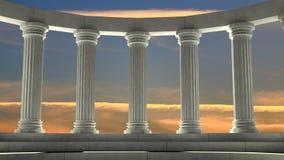 Colunas de mármore antigas ilustração do vetor