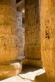 Colunas de Medinat Habu Imagem de Stock