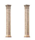 Colunas de mármore clássicas bonitas isoladas no fundo branco Foto de Stock Royalty Free