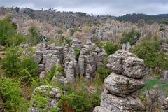 Colunas de pedra Turquia Fotografia de Stock