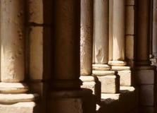 Colunas de pedra velhas imagens de stock