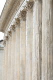Colunas de Roman Temple Maison Carrée, Nimes, França Fotografia de Stock Royalty Free