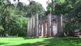 Colunas de Sheldon Church Ruins idoso vídeos de arquivo