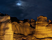 Colunas de Solomon no parque de Timna fotos de stock