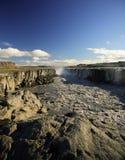 Colunas do basalto, Dettifoss Fotografia de Stock