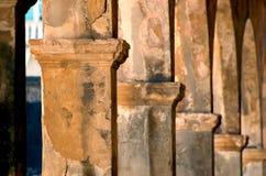 Colunas do castelo de San Cristobal Imagem de Stock Royalty Free