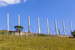 Colunas do concreto da construção Imagem de Stock Royalty Free