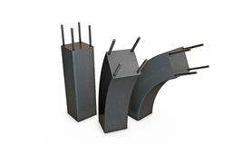 Colunas do concreto reforçado Imagens de Stock